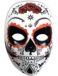 Rubies Mascara Calavera Katrina con Rosas Día de los Muertos, Talla única (S3186)