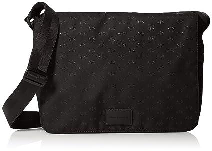 A X Armani Exchange Mens Allover Logo Messenger Messenger Bags - Black -   Amazon.co.uk  Clothing 11410c103e