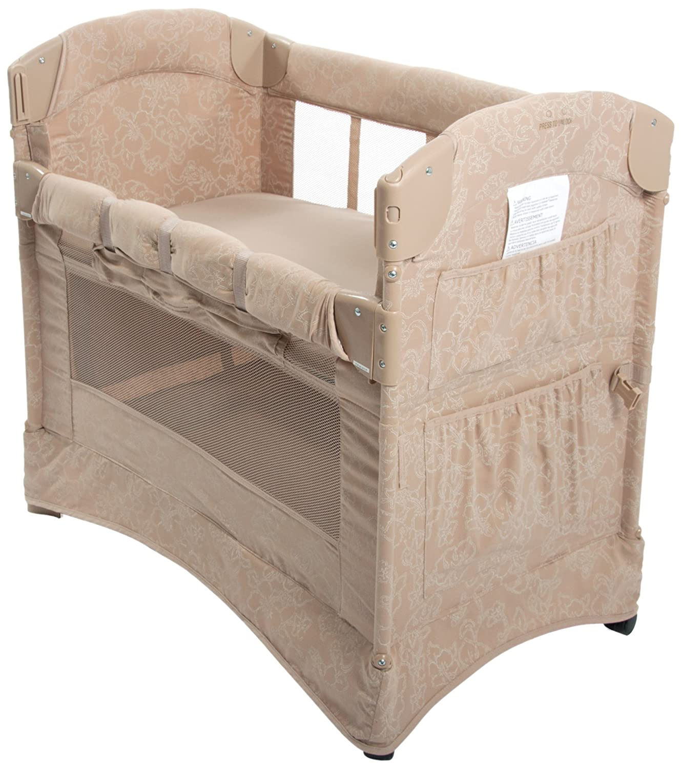 Amazon.com : Arm's Reach Co-Sleeper Curved Mini Collection, Toffee Hibiscus  (Discontinued by Manufacturer) : Toddler Beds : Baby