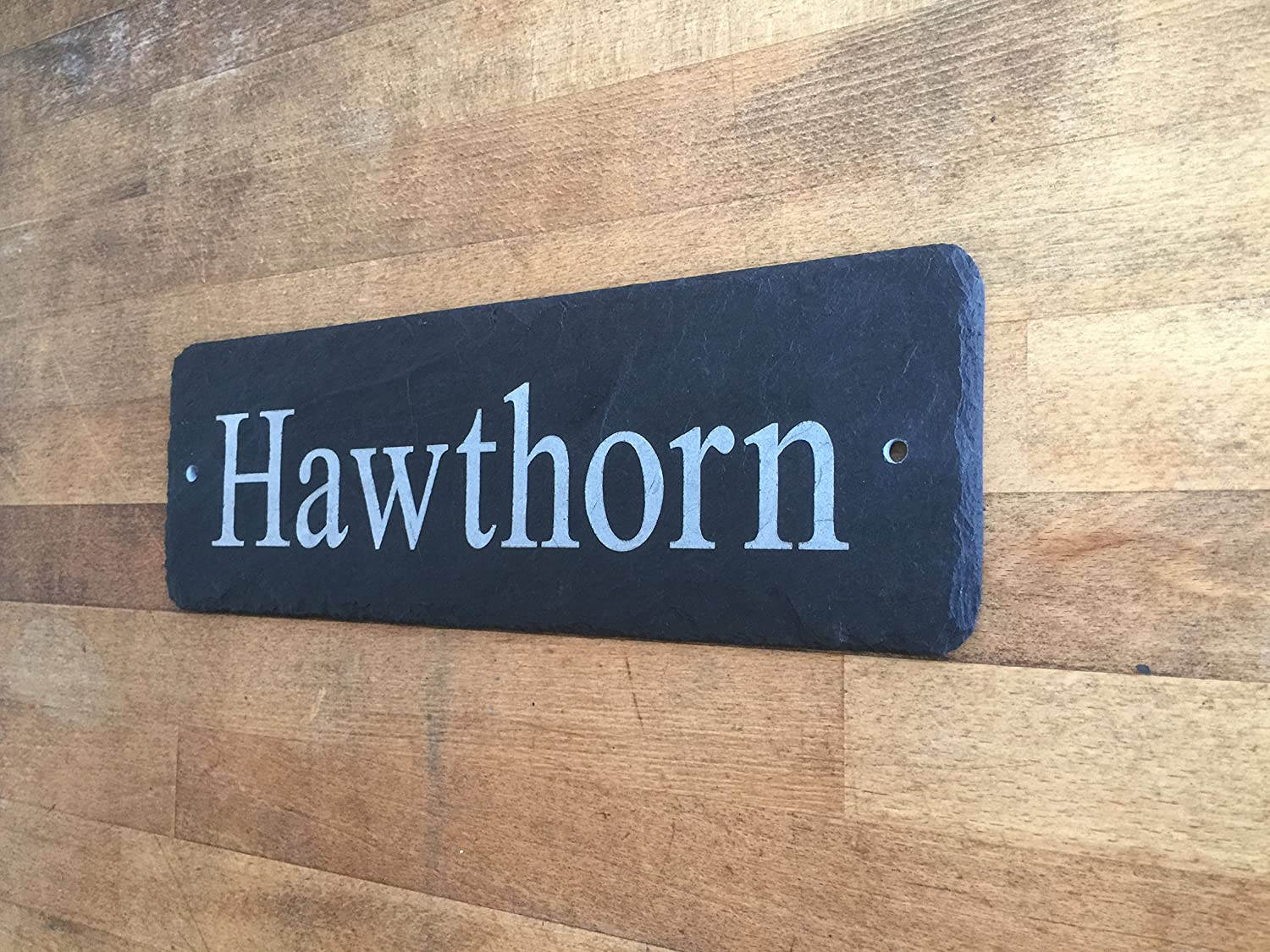 Beautiful Natural Slate House Sign 45cm x 10cm Traditional Rustic Finish 1st 4 Signs Ltd