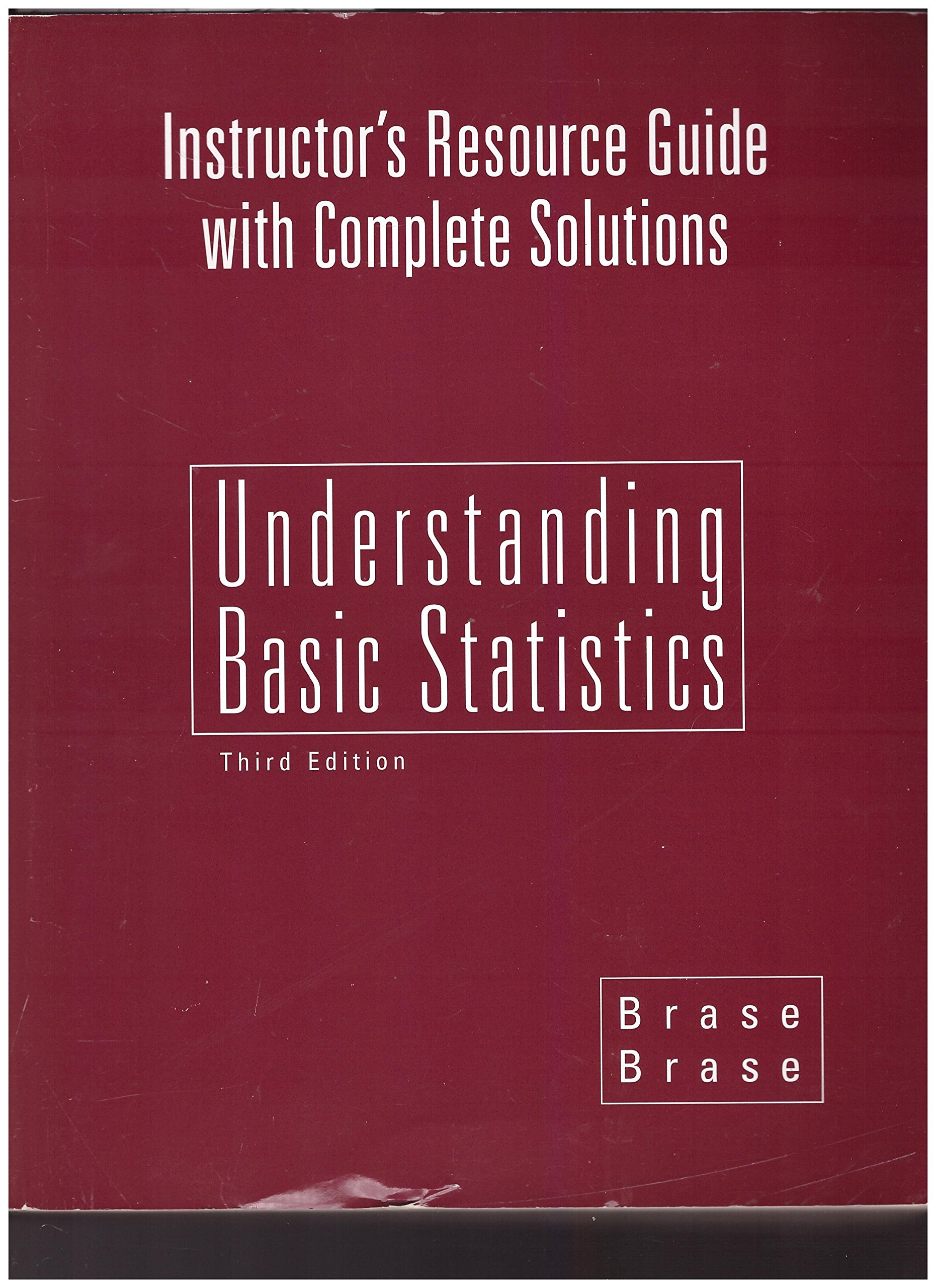 Instructor's Resource Guide with Complete Solutions (Understanding Basic Statistics) ebook