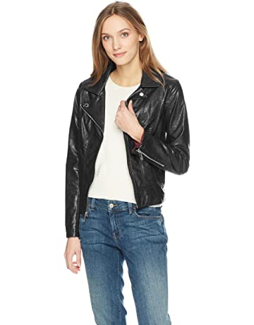8dfc0204b2c Tommy Hilfiger Women's Faux Leather Classic Moto Jacket