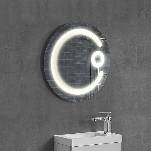 5 opinioni per [neu.haus] Speccio murale tondo- Specchio per bagno con illuminzione LED