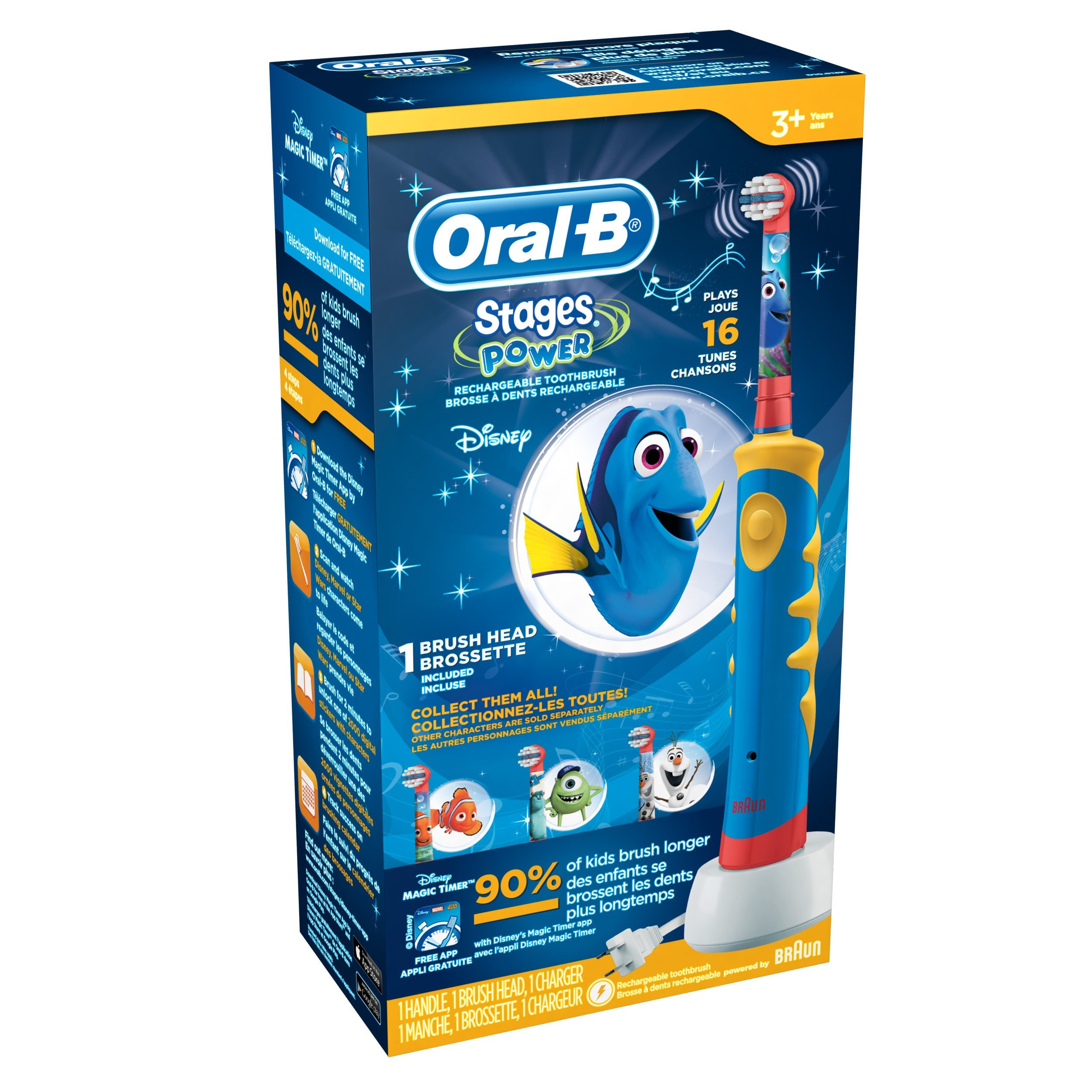 Oral-B Stages Power Brush for Kids (Pack of 6) by Oral B (Image #3)