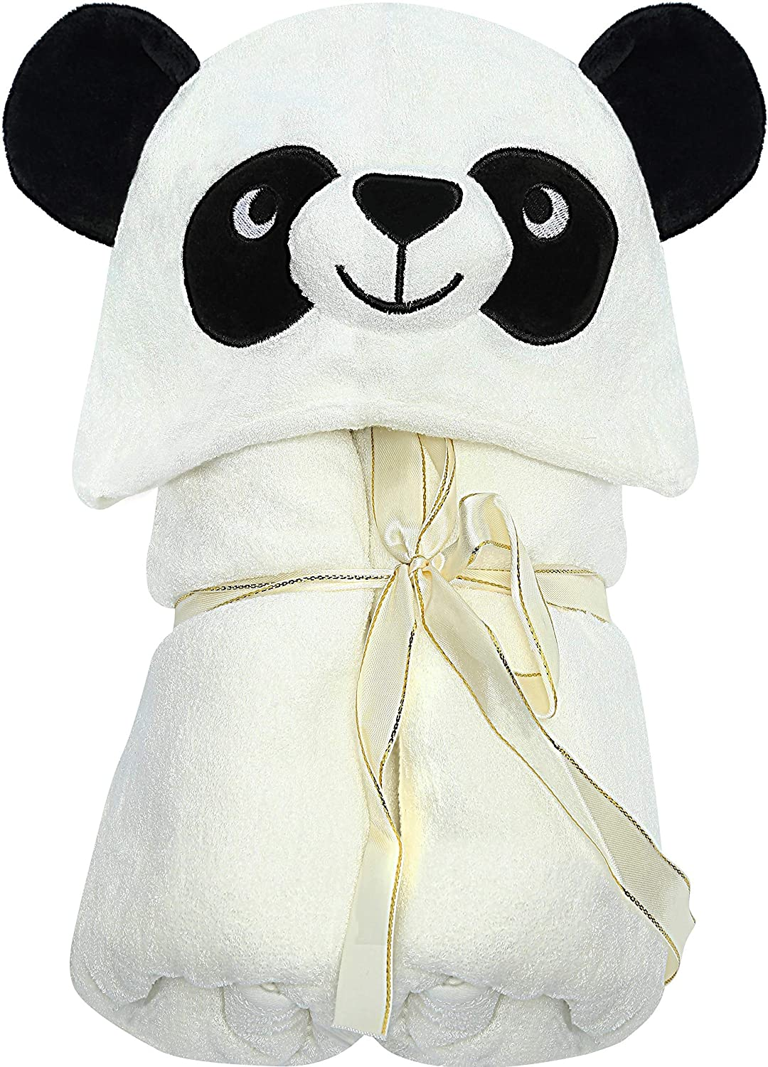 Baby Organic Hooded Panda Towel - Natural Soft Thick & Luxurious Eco-Friendly Bamboo - Big 35 X 35 Inch Ultra Absorbent Bath Robe for Babies & Toddlers - Hypoallergenic for Newborn Skin by LilGoo