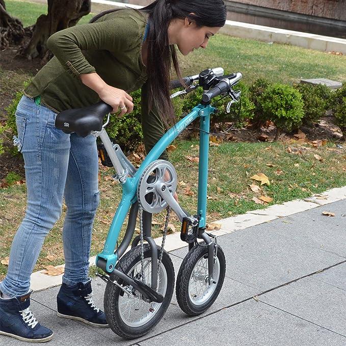 Ossby Arrow Bicicleta Plegable, Unisex Adulto, Turquesa, Talla Única: Amazon.es: Deportes y aire libre