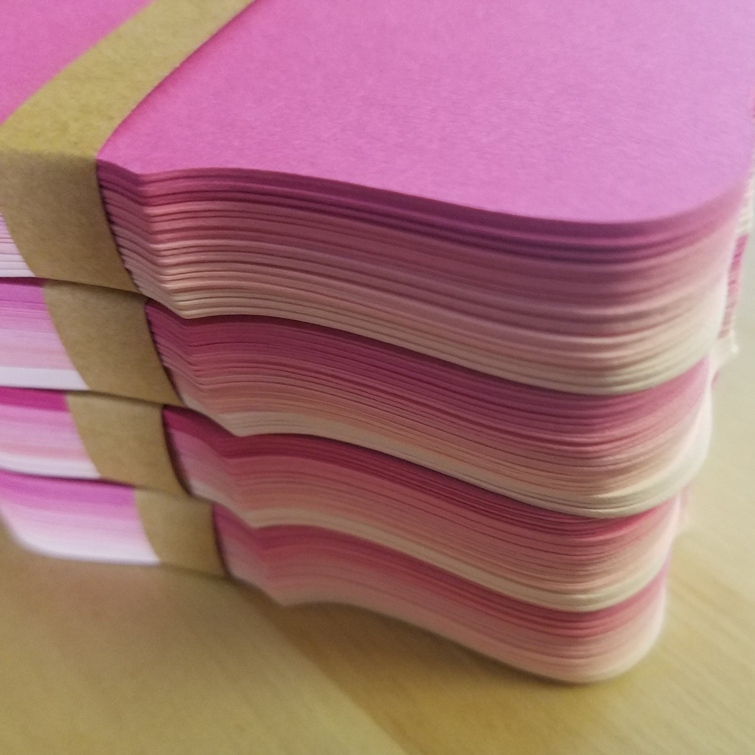 Rose Pink Ombre Color Note Cards / Place Cards - size (2'' x 3.5'') - Set of 50