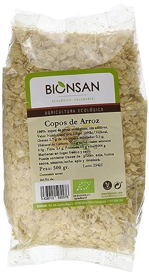 Bionsan Copos de Arroz - 6 Paquetes de 500 gr - Total: 3000 gr