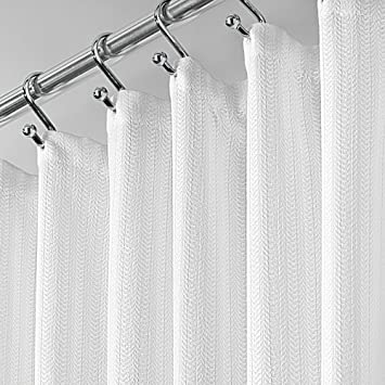 mDesign Duschvorhang Baumwollmischgewebe - 183 x 183 cm ...