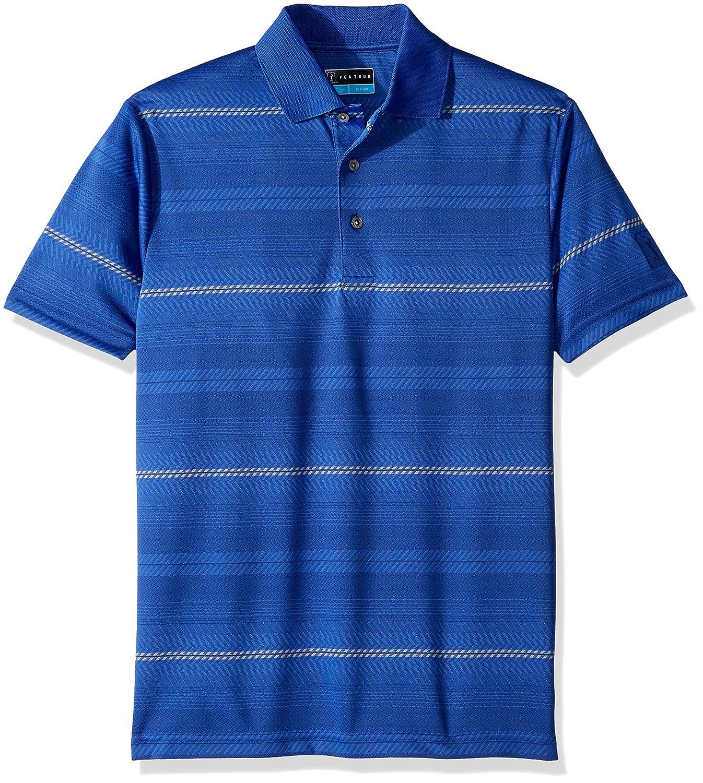 df4d0bcd Amazon.com: PGA TOUR Men's Short Sleeve Jacquard Polo Shirt: Clothing