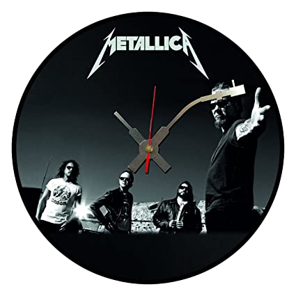 BottleClocks Iconic Metallica Disco de vinilo reloj de pared