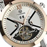ZACK1 Mens Automatic Luxury Tourbillon Watch For Men Brown Leather Band