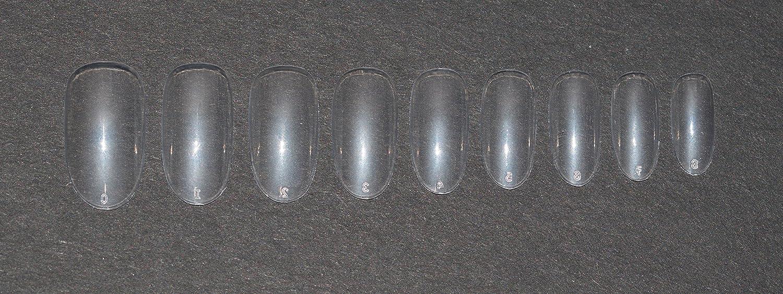 Uñas postizas ovaladas, transparentes, 10 tamaños, cortas y medianas, para uso en salones de belleza y en el hogar, para decorarse las uñas uno mismo, ...