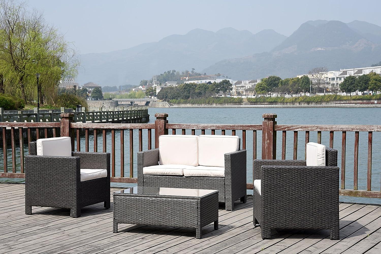 neue rattan geflecht wintergarten im garten m bel set g nstig bestellen. Black Bedroom Furniture Sets. Home Design Ideas