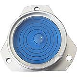 Niveau à Bulle d'Air Circulaire Bulls Eye Boîtier Métallique Vertical (Liquide Bleu) - Rond Niveau de Surface Outil Horloge Passion Caravane