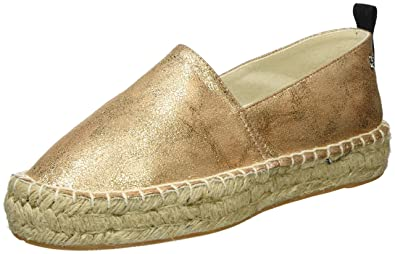 Womens Nude Metallic Ladies Shoes Espadrilles Xti pMPO3KwC