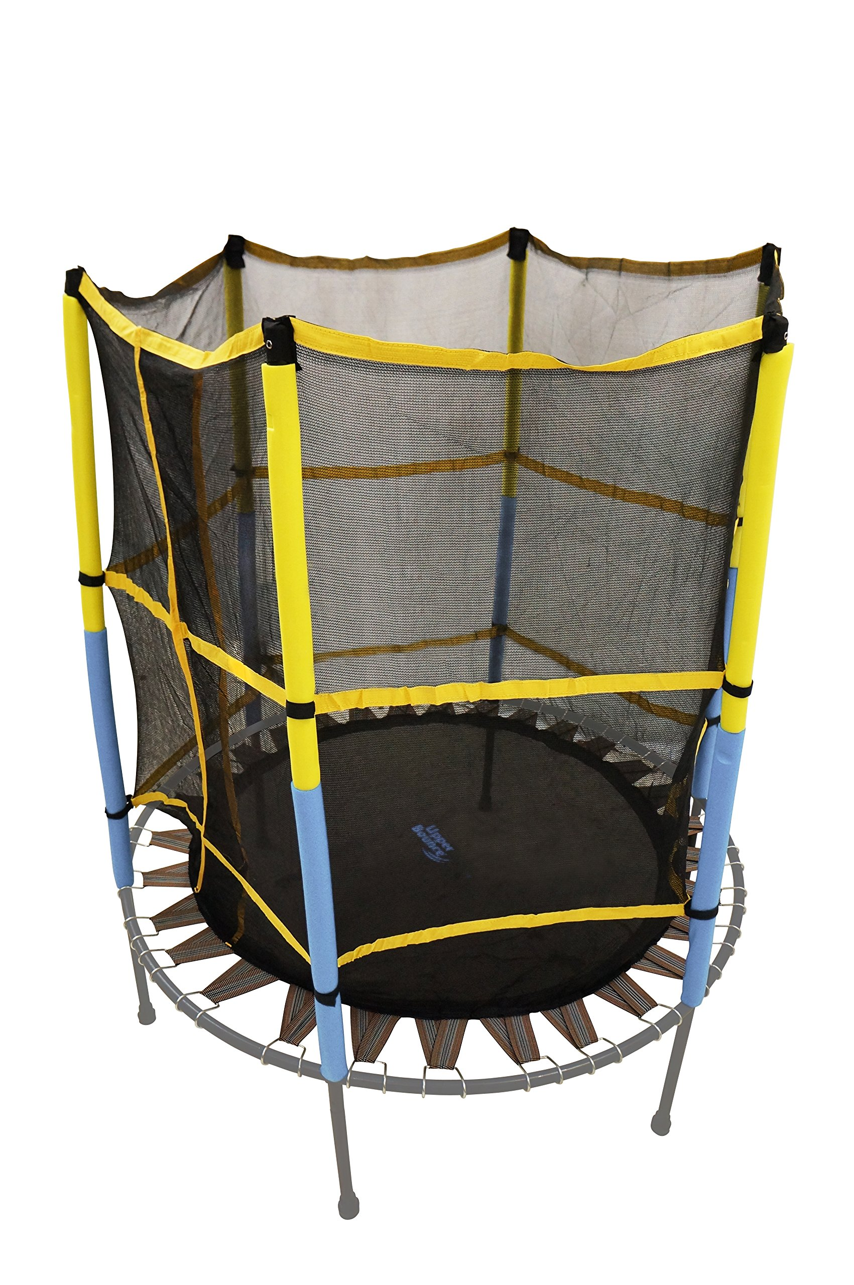 Trampoline Replacement Jumping Band Mat With Attached Safety Net For 55'' Round Frame - Clips Included - ''Net & Mat ONLY'' by Upper Bounce