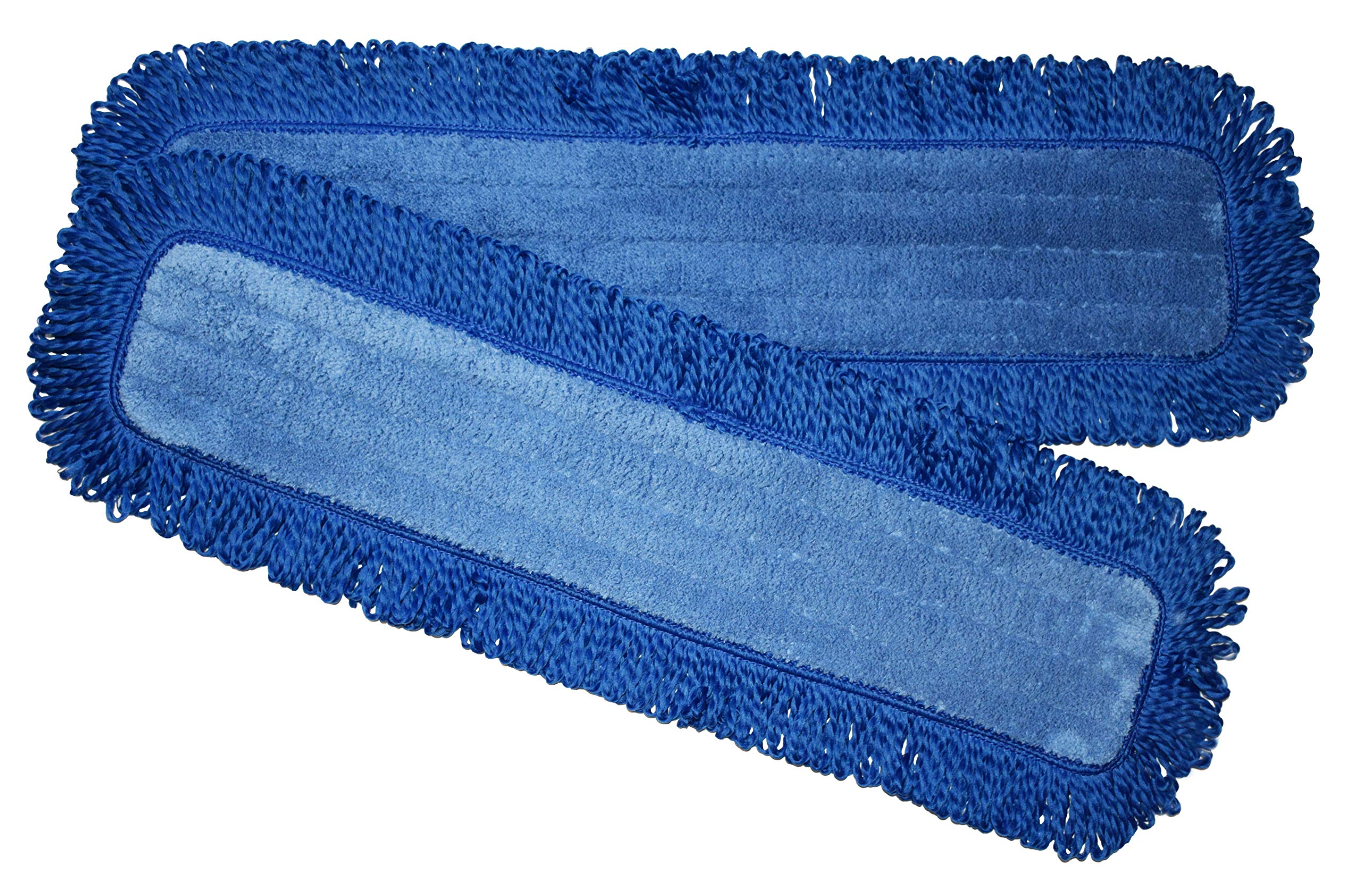 24 Inch Replacement Mop Pads with Fringe, 2 Pack, Microfiber, Professional Grade, by IdaSmart. Fits Any 24 Inch Velcro Style Mop Head, for Dry or Dust Mopping. by IdaSmart