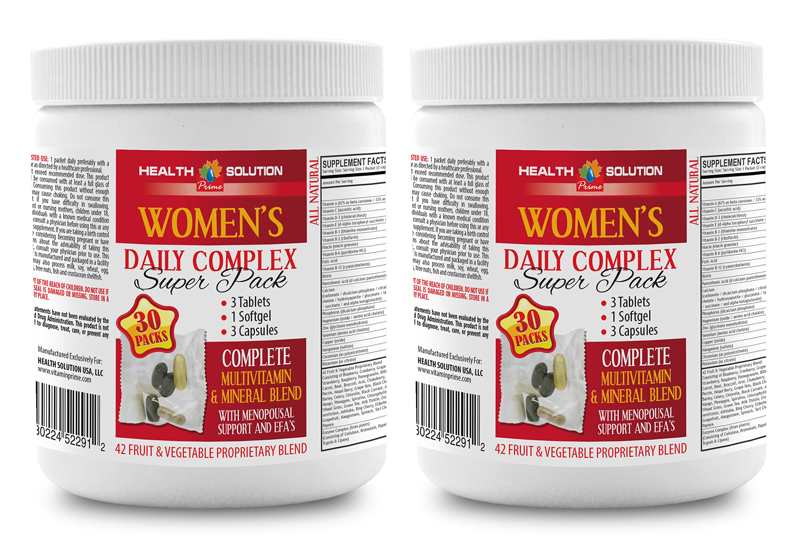 Energy Boosting Vitamins for Women - Women's Daily Complex - Super Pack - Magnesium Supplement for Women - 2 Cans 60 Packs (420 Pills)