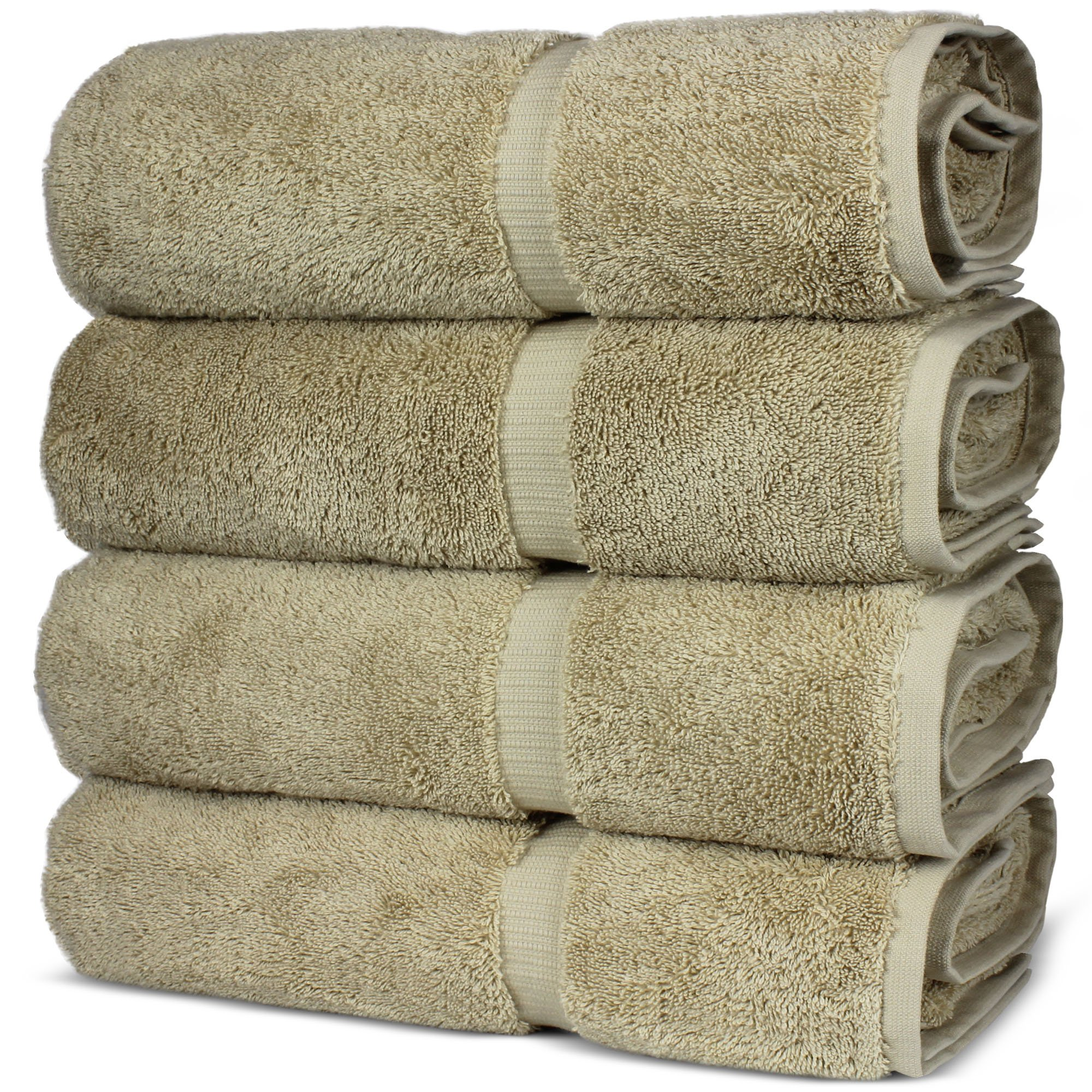 Luxury Premium long-stable Hotel & Spa Turkish Cotton 4-Piece Eco-Friendly Bath Towel Set (Driftwood) by Chakir Turkish Linens (Image #4)