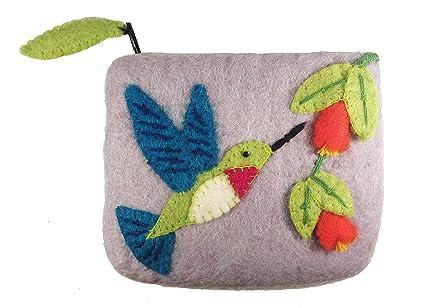 Monedero de fieltro, colibrí, hecha a mano y de comercio ...