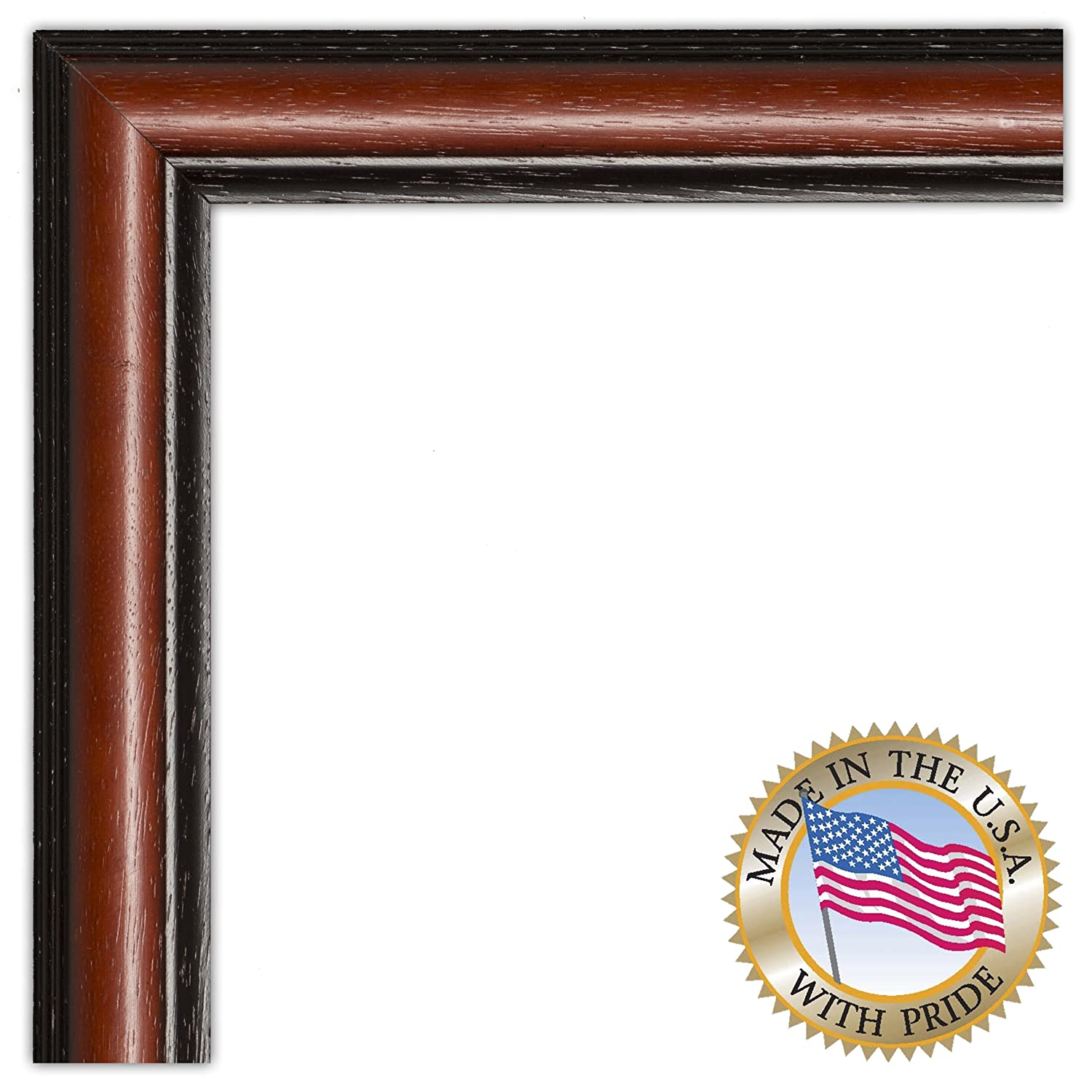.875 wide 2WOMD8669 ArtToFrames 10x26 10  x  26 Picture Frame Traditional Cherry with Steps .