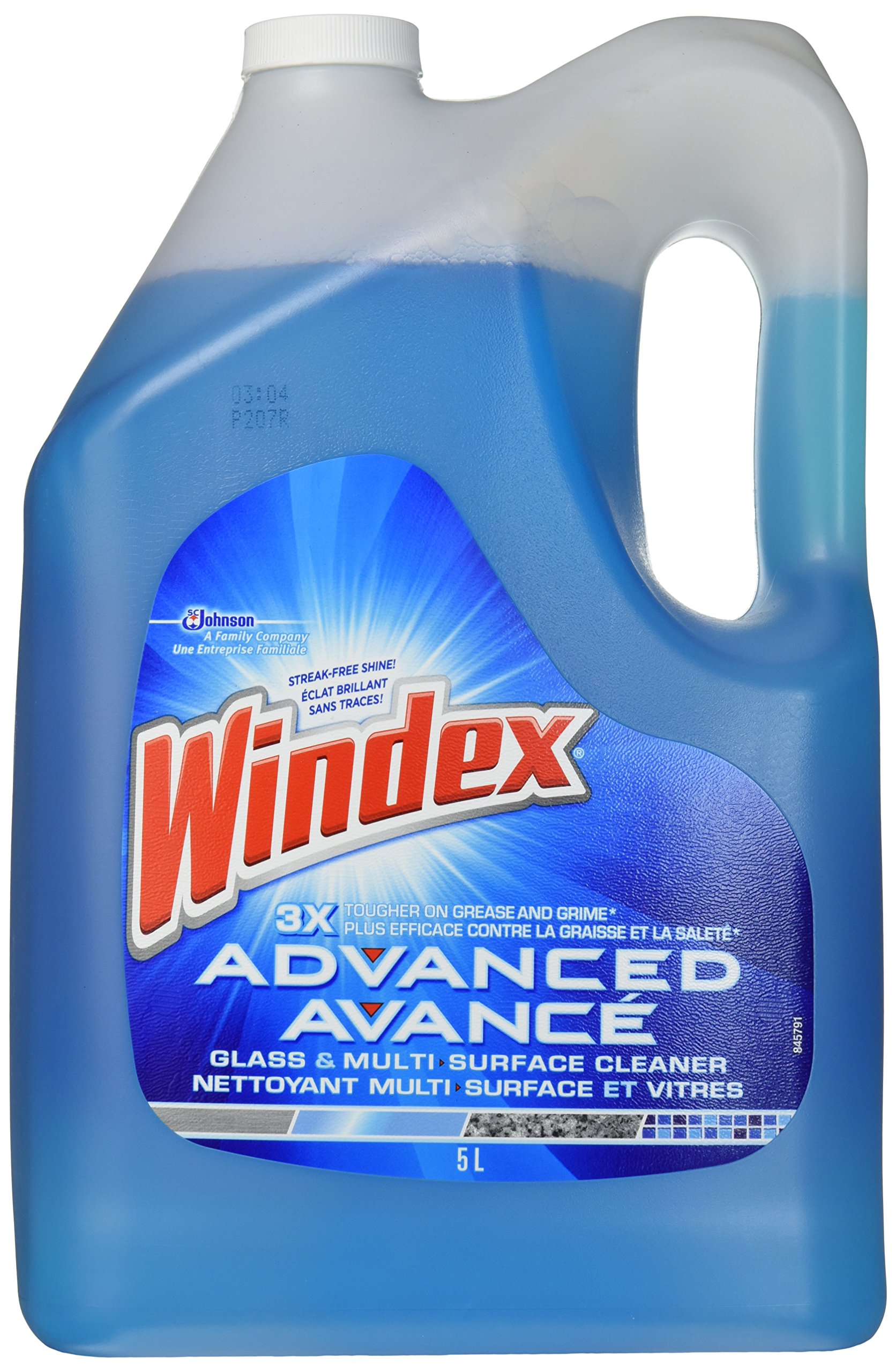 Windex Advanced Glass & Multi Surface Cleaner 172 Oz (1.34 Gallon) Refill