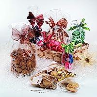 Italpak Cellofaan zakjes, Transparant, Candy zakken, Geschenkzakjes koekjes, 100 stuks, 10x20cm