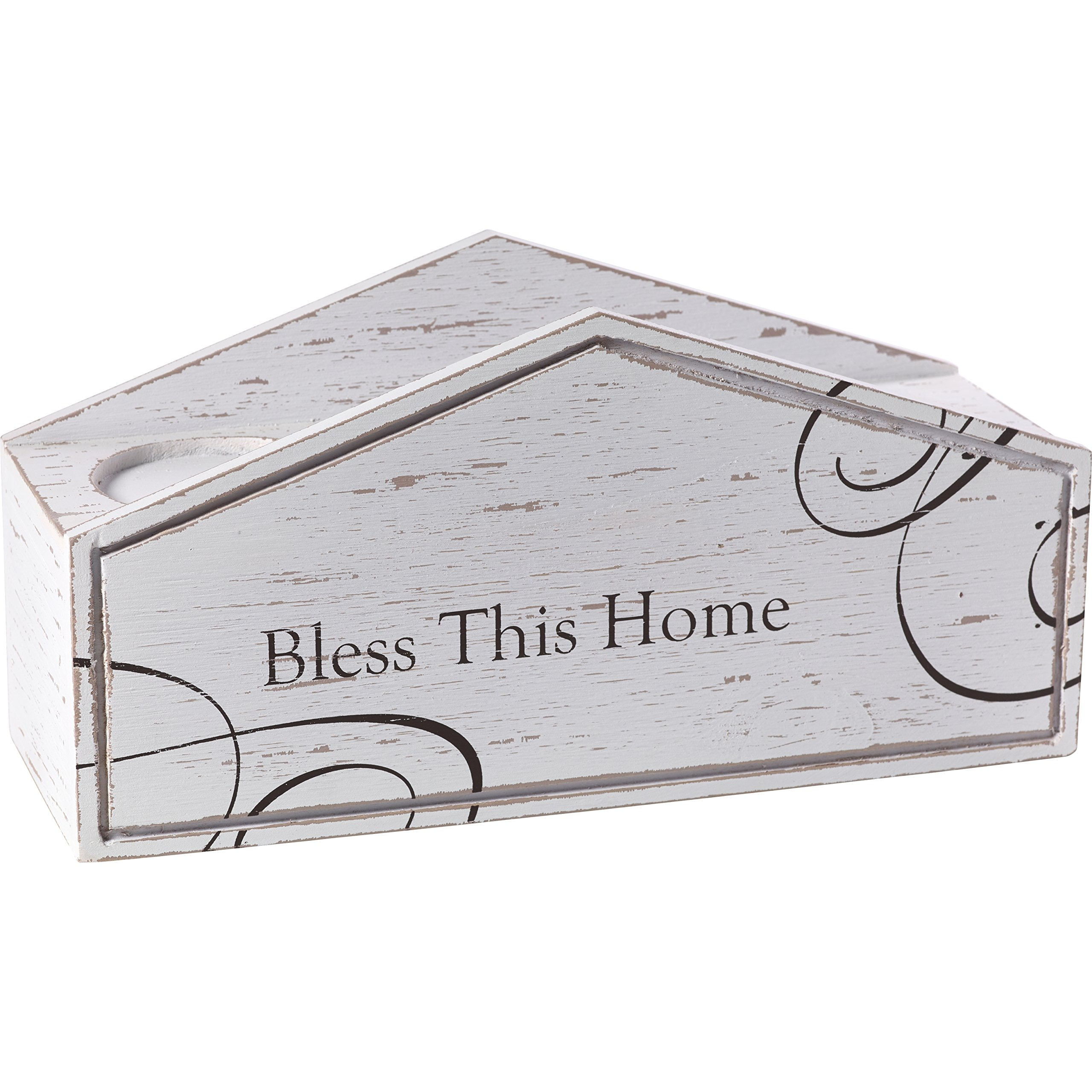 Precious Moments Bless This Home Rustic Farmhouse Distressed Wooden Pillar Candle Home Décor Display Box 173428