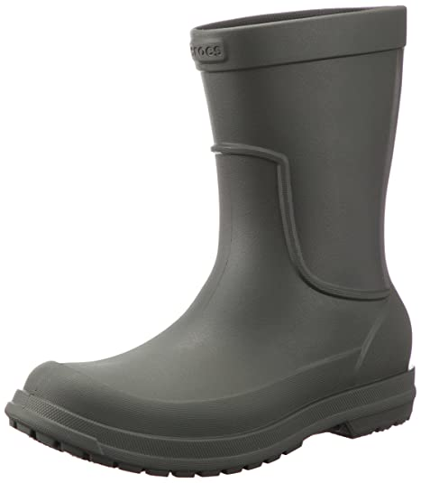 Crocs AllCast Rain Boot Men, Stivali di Gomma Uomo, Grigio Dusty Olive, 39