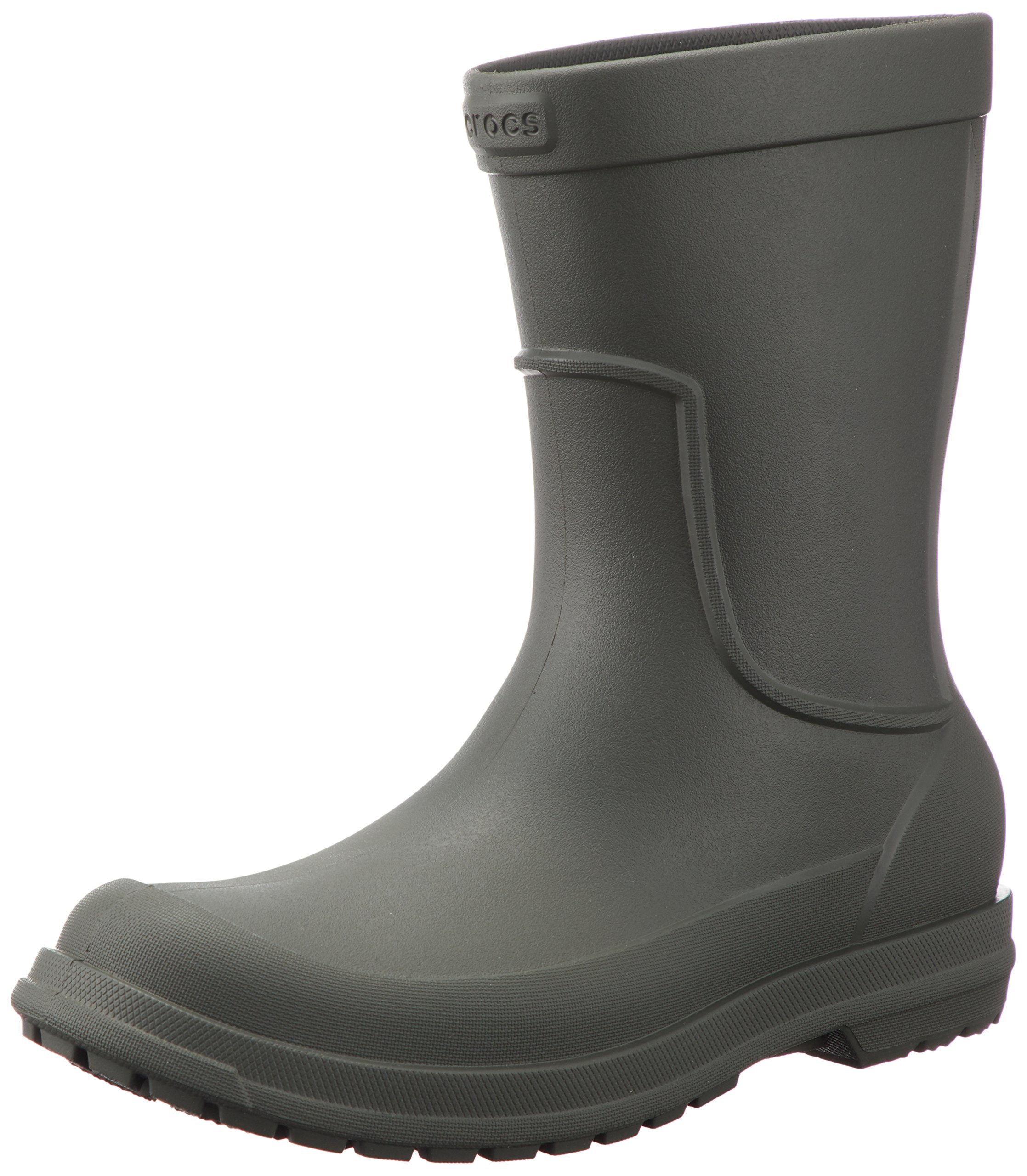 Crocs Men's AllCast M Rain Boot, Dusty Olive/Dusty Olive, 13 M US