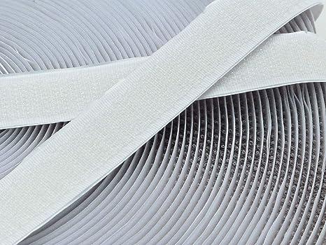 weiß Flausch + Haken 1 Meter Klettband selbstklebend 20mm