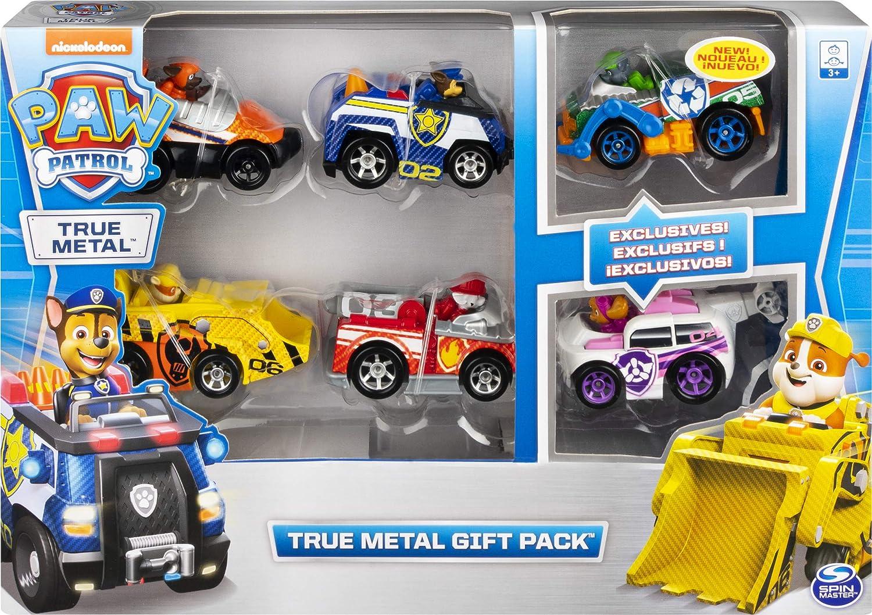 PAW PATROL Set Regalo | Patrulla Canina | True Metal 1:55 | 6 Mini Vehículos | Serie 2: Amazon.es: Juguetes y juegos