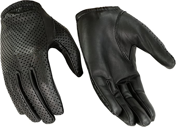 Hugger Breathable Full-Finger Touchscreen Durable Leather Gloves - Driving, Motorcycle, Riding, Patrol, Shooting