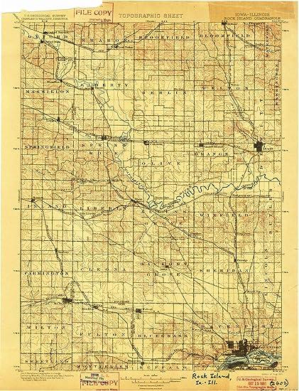 Amazon Com Iowa Maps 1901 Rock Island Ia Usgs Historical