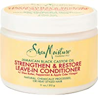 SheaMoisture Jamaican Black Castor Oil Leave In Conditioner for Over-Processed, damaged hair 100% Pure Jamaican Black…