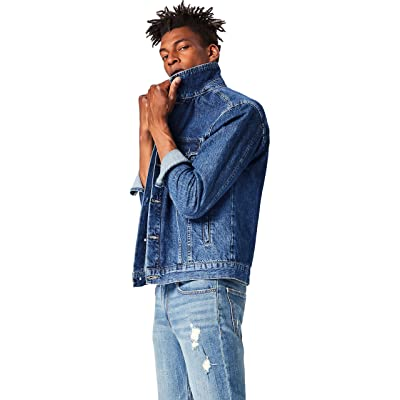 Brand - find. Men's Classic Denim Trucker Jacket: Clothing