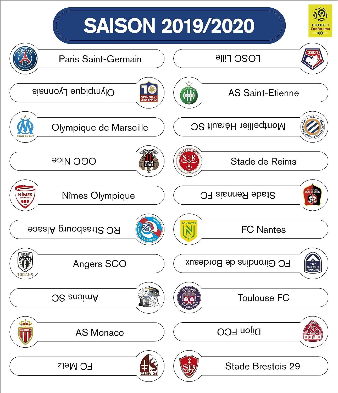 Set Logo 2019 2020 Tableau Magnetique De Classement Ligue 1 Amazon Fr Sports Et Loisirs