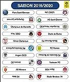 Tableau magnétique de classement - Ligue 1 et la Dominos's Ligue 2 - Saison 2018-2019: Amazon.fr ...