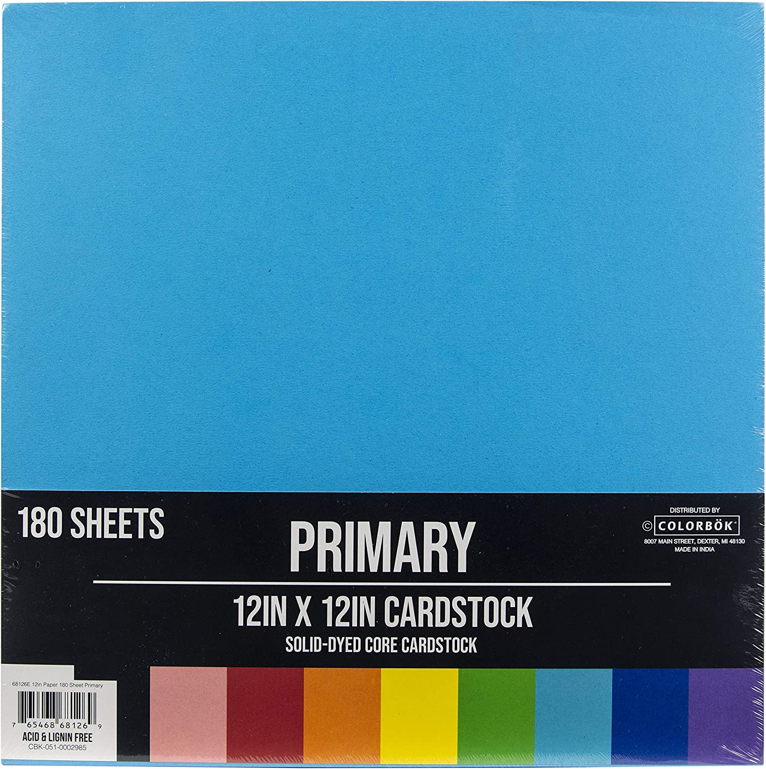 78lb Single-Sided Printed Cardstock 12 x 12 Inches Colorbok 30 Sheets Spray Paint 10 Designs//3 Each