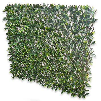Expanding Fence With Artificial Green Laurel Leaves: Leaf Trellis To Screen  Areas Of Your Garden