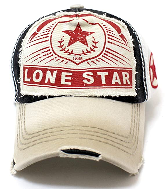 Olive Khaki Lone Star Patch Embroidery Vintage Ballcap at Amazon Women s  Clothing store  c2e44727b34f