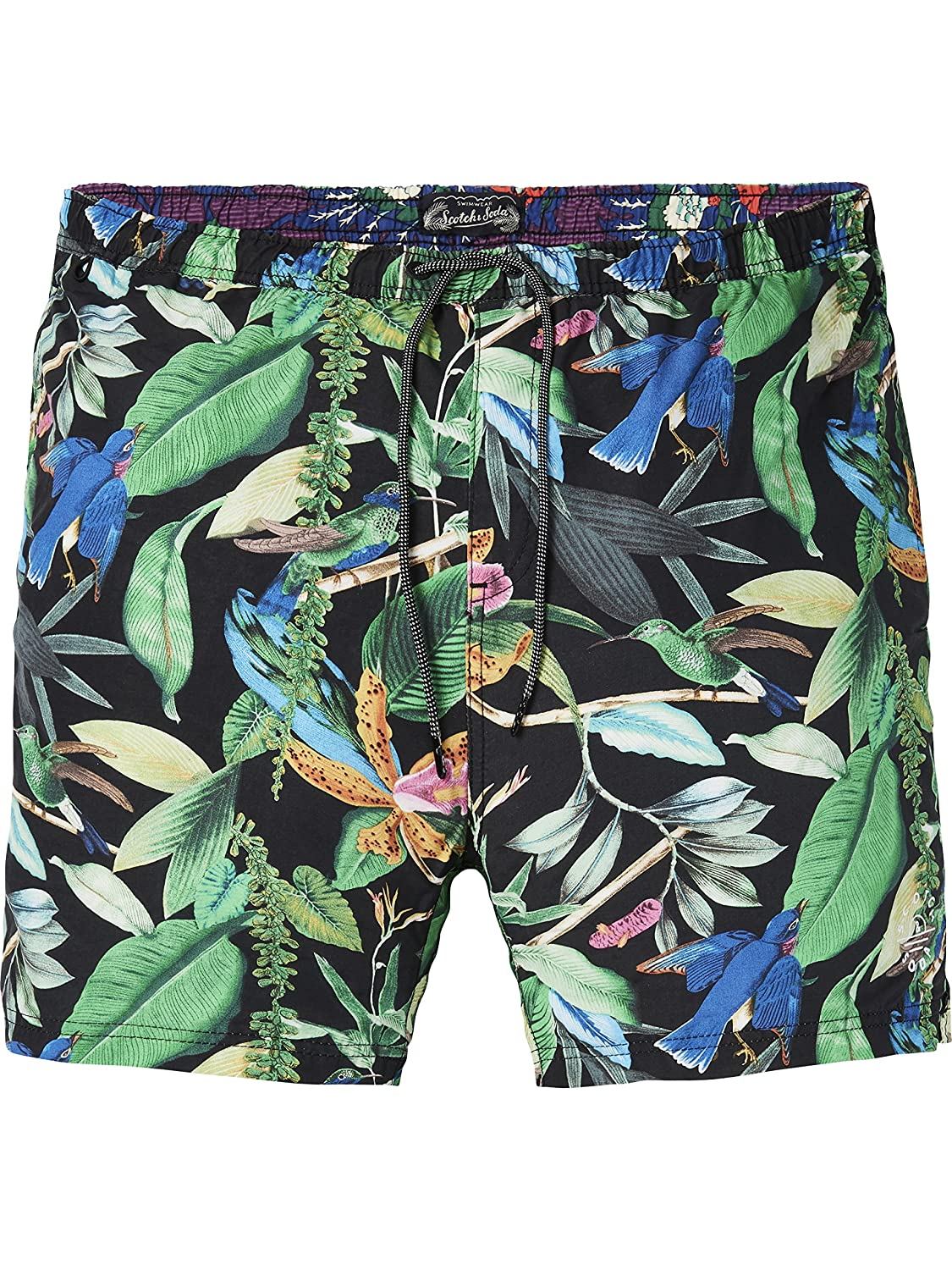 Scotch & Soda Elasticated Swimshort with Colourful All-Over Print, Pantalones Cortos para Hombre