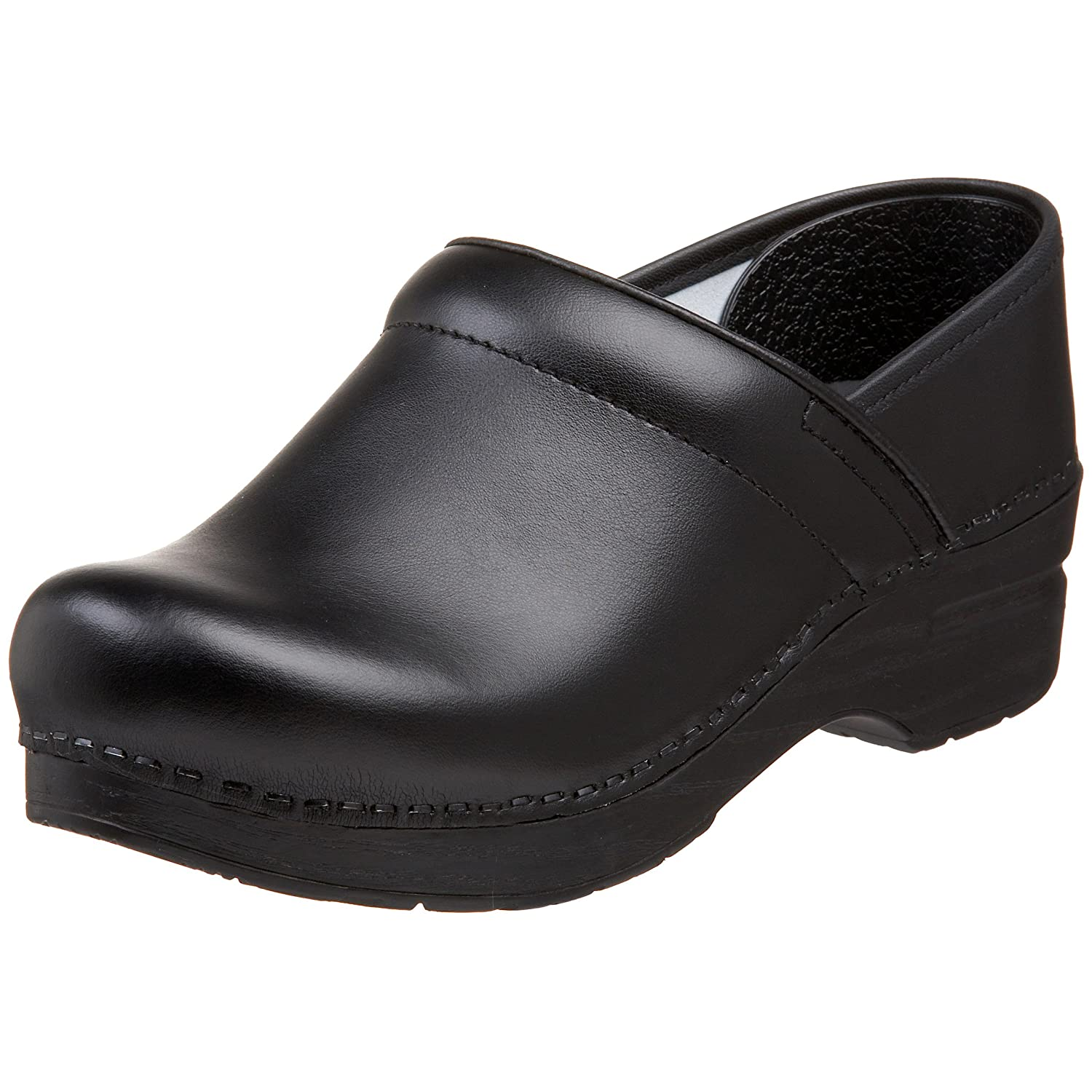 DANSKO Professional Women's Black Leather Clogs