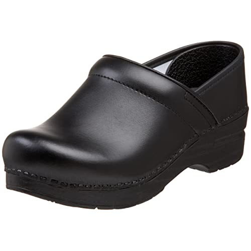 Dansko Women's Wide Professional Clog,Black Box,36 W EU / 5.5-6 D(W) US