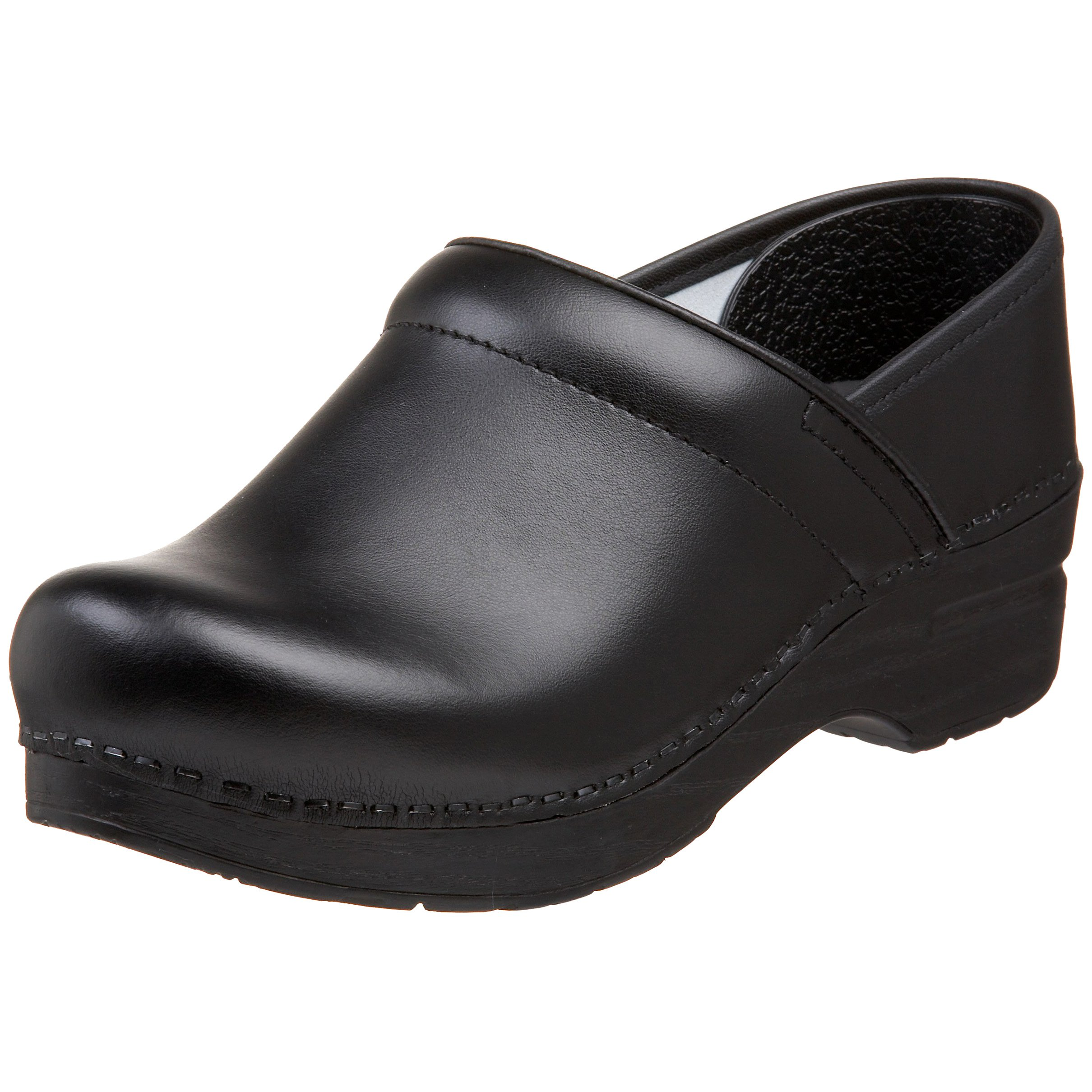 Dansko Women's Wide Professional Clog,Black Box,38 W EU / 7.5-8 D(W) US by Dansko (Image #1)