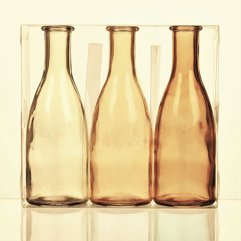 Deko Vase BOTTLE H Flaschenvase 10,5cm orange Glas Sandra Rich WA 20cm D