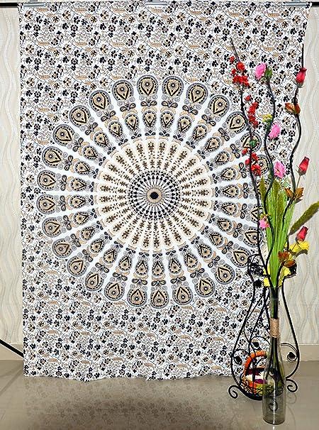 Tapiz de Oro Colgante de Pared Mandala Lote al por Mayor de 5 Piezas Tapices Indio Algodón Colcha de Cama Picnic Sábana Manta Arte de la Pared Tapicería Hippie: Amazon.es: Hogar