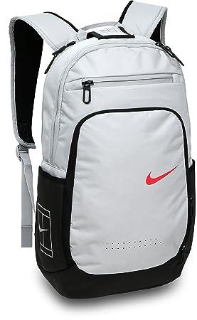 Nike CRT Tech BKPK Mochila de Tenis, Hombre, Gris (Lobo)/ Negro/Rojo, Talla Única: Amazon.es: Deportes y aire libre