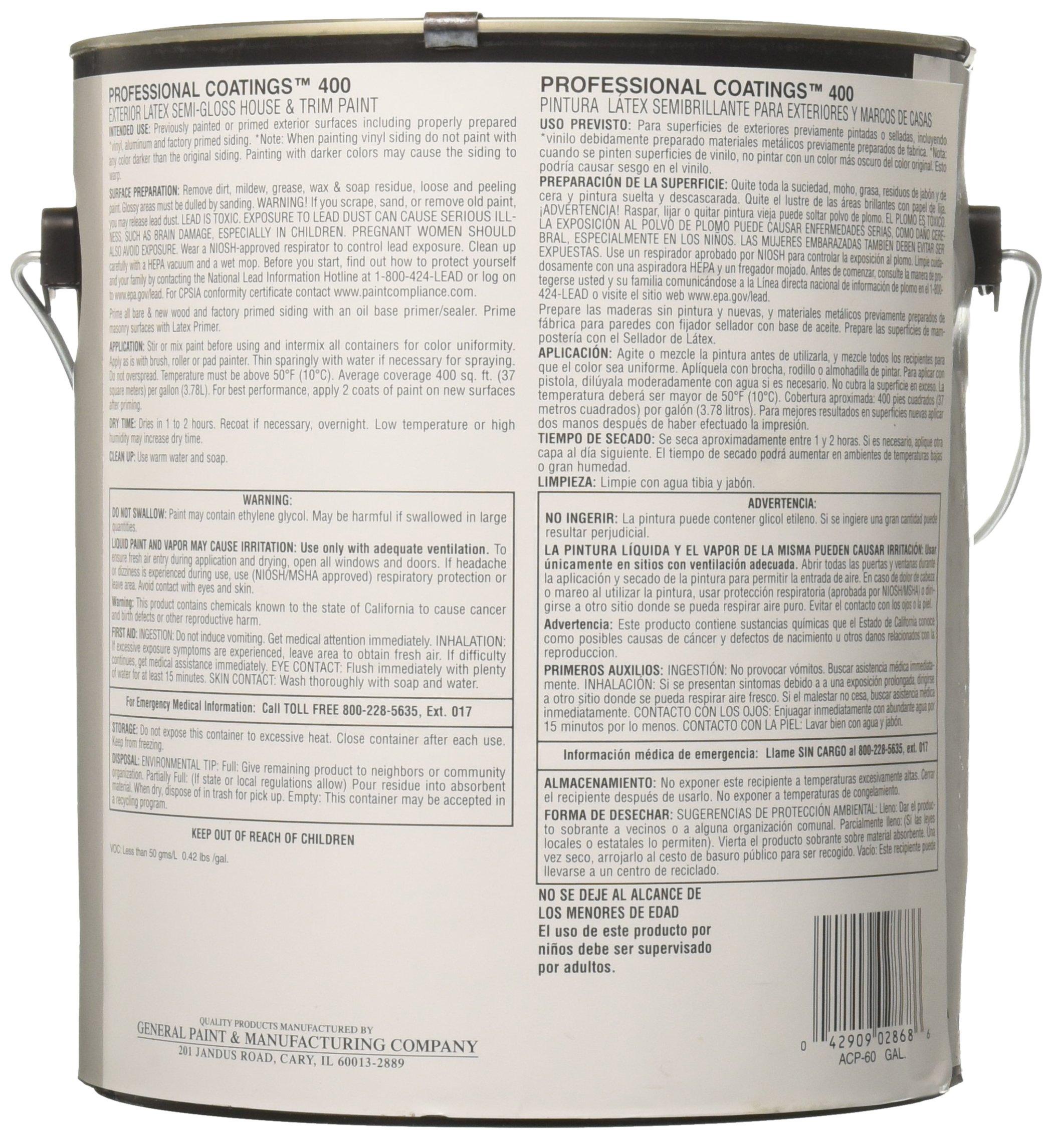 True Value ACP60-GL  PCB-Gallon  Semi Gloss Paint,  White by True Value (Image #2)